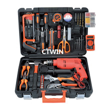 Manufacturers Selling Above 100 PCS  Luxury  Metal Toolbox Drill Household Utility Hand Tools Combination Suit Maintenance Tools