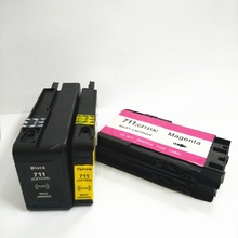 1 Set HP711 Ink Cartridges for HP 711 Cartridge For DesignJet T520 T120