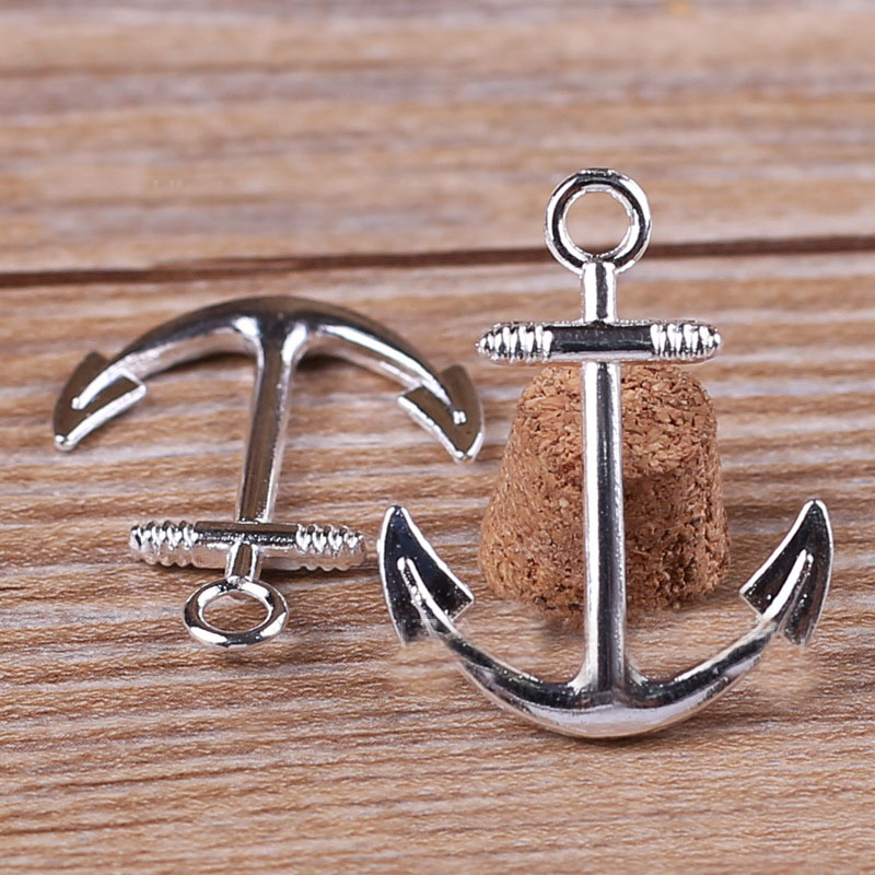 Silver Anchor Charms-Pendant Jewelry-Making Diy-Accessories for 20pieces/Lot 32mm--25mm