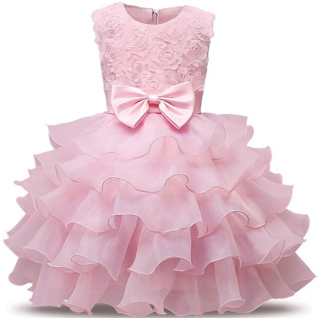 6aa3a965145d4 Bebé niña bautismo vestido para bebé recién nacido 1st 2nd cumpleaños  trajes niño niños ropa de