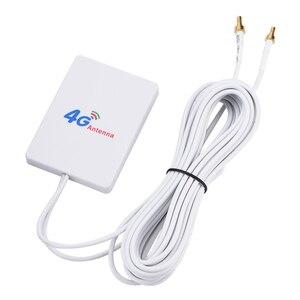 Image 2 - Zewnętrzny 28DBI biały kabel antenowy LTE złącze SMA 4G 3G wzmacniacz sygnału pionowa sieć WIFI szerokopasmowy TS 9 mobilny Router