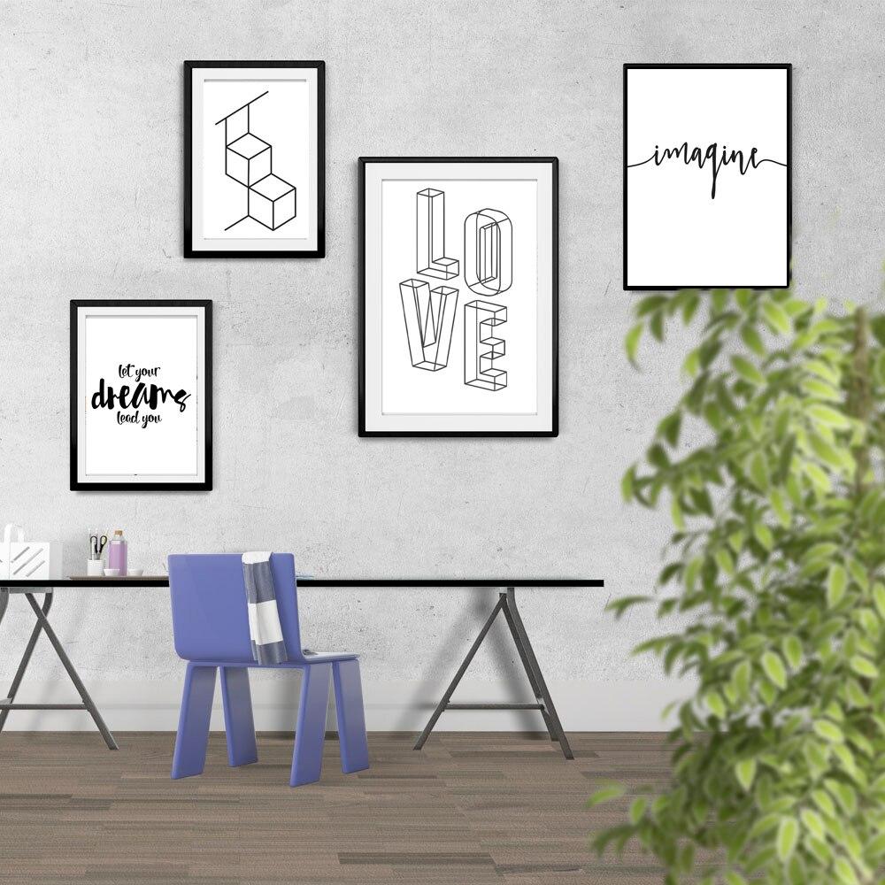 Love Home English Phrase Proverbs Life Inspirational Poster Black ...