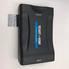 Scart al Convertitore di HDMI 1080 P Adattatore Video Audio Convertitore di Segnale Per DVD SKY Box STB