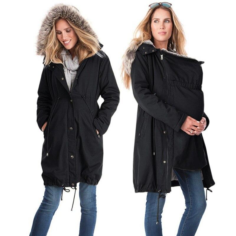 Mode bébé transporteur veste kangourou mince maternité Hoodies vêtement d'extérieur pour femmes automne manteau pour femmes enceintes vêtements de maternité - 2