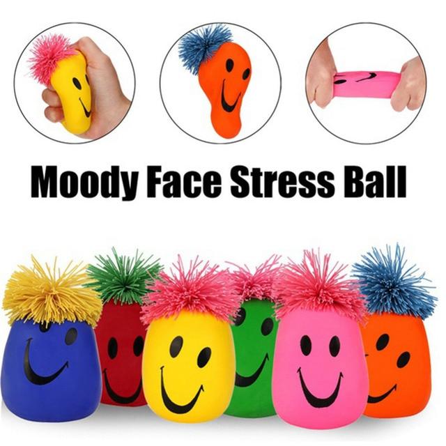 Cute Funny Squishy Slow Rising Smiley Stress Ball Emoji Moody Faces