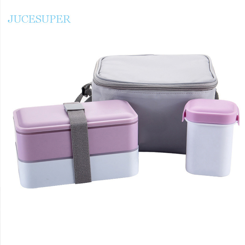 High Quality Japanese Bento Lunch Boxs Water Soup Mug Insulated Lunch Cooler Tote Bag Food Container Lunchbox Microwave Safe