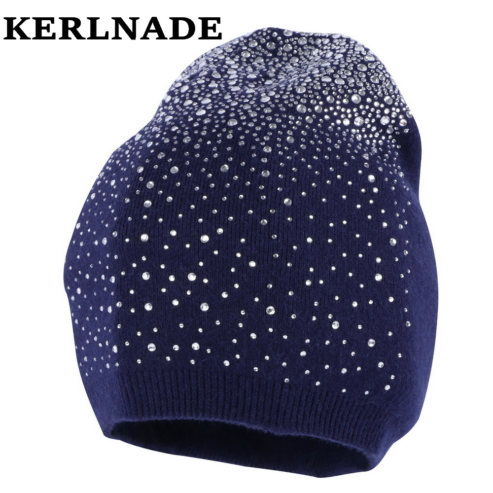 women wool winter hat brand skullies beanies Custom designer luxury rhinestone style warmer casual winter hats girl beauty gorro skullies