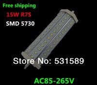 Бесплатная Доставка 10 шт. R7S LED 15 Вт Samsung SMD5730 Светодиодные лампочки lamp1600lm AC85-265V заменить галогенные прожектора