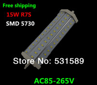 Free Shipping 15pcs R7S Led 10W Samsung SMD5730 LED Light Bulb Light Lamp1600LM AC85 265V Replace