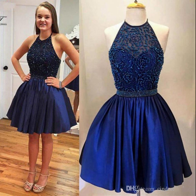 Short Royal Blue Cocktail Dresses 2017 Real Sample Prom Ball Gown