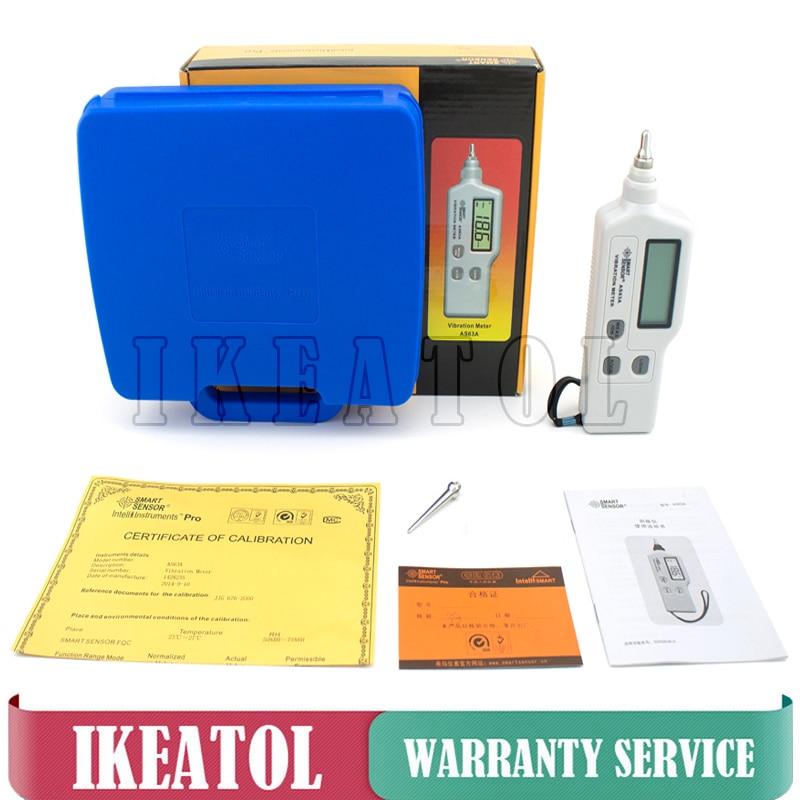 Compteur de vibrations numérique AS63A Type de stylo 0.1 ~ 199.9 m/s viberomètre capteur testeur de vibrations portable