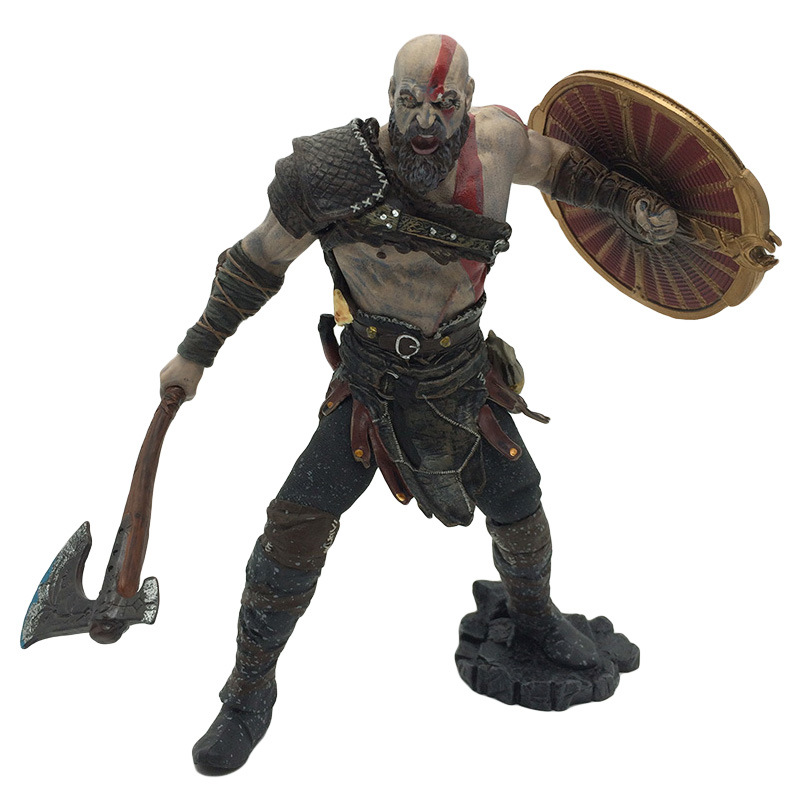 22cm NECA Toys Game God of War 4 Kratos PVC Action Figure Ghost Sparta Collectible Model Doll Toy EO10