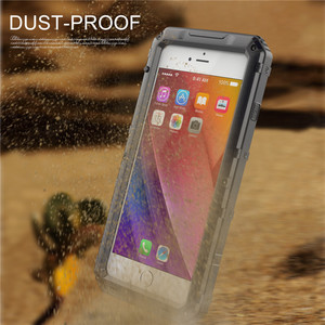 Image 5 - Luxury armor Metal Aluminum Waterproof phone Case for iPhone XR X 6 6S 7 8 Plus XS Max Shockproof Dustproof Heavy Duty Cover