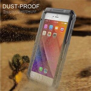 Image 5 - Sang trọng giáp Kim Loại Nhôm Đựng điện thoại Chống Nước cho iPhone XR X 6 6S 7 8 Plus XS Max Chống Sốc chống bụi Dày Bao