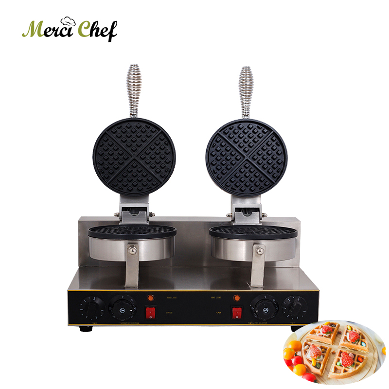 ITOP Electric Waffle maker Hot Sales 2000W Double heads Waffle machine Non-stick waffle grill 220V Food Machine for household directly factory price commercial electric double head egg waffle maker for round waffle and rectangle waffle