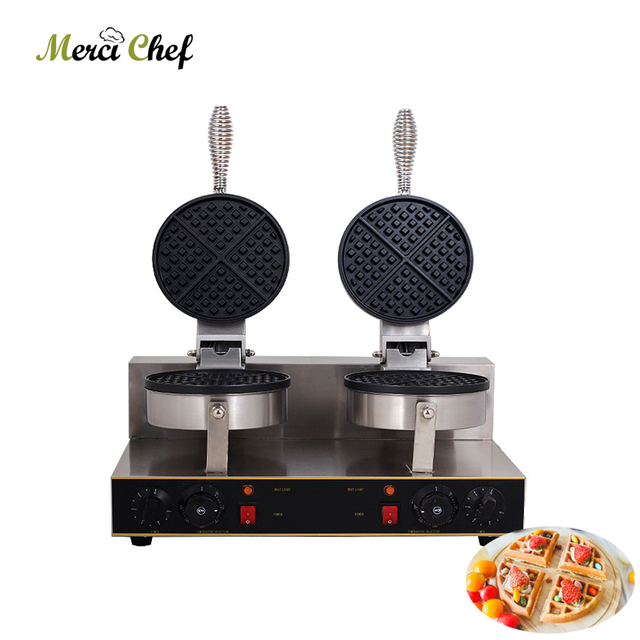ITOP Electric Waffle maker Hot Sales 2000W Double heads Waffle machine Non-stick waffle grill 220V Food Machine for household