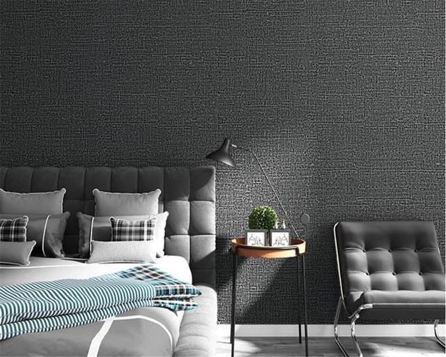Moderne plain pure kleur non wovens behang roll voor muren