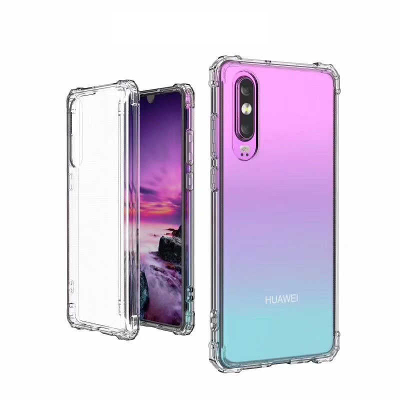 Armor Anti-Shock Bumper Case For Huawei P20 Pro P30 P10 Cover TPU Transparent Soft Back Full Huawei Mate 20 10 Cover Phone Cases