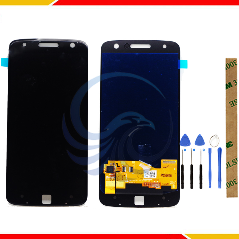 Good Quality 100% Tested One By One For Motorola Moto Z Z Play <font><b>XT1635</b></font> LCD Display With Touch Screen Assembly image