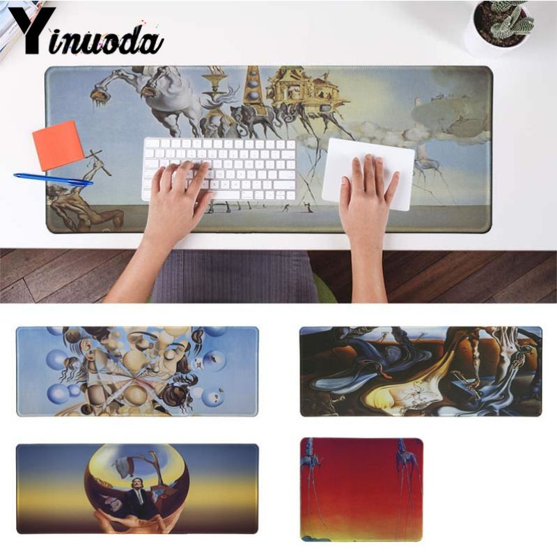 Yinuoda  Salvador Dali Large Mouse Pad PC Computer Mat Size For 30x60 40x90cm Gaming Mousepads Large Gaming Size Mouse Pad