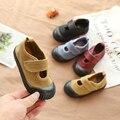 Весенне-осенние Детские парусиновые туфли с эффектом потертости в Корейском стиле  школьные повседневные туфли для мальчиков и девочек  оч...