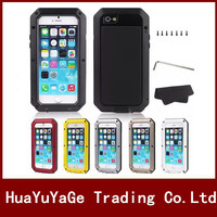 Phone Cases Powerful Metal Cover Luxury Aluminum Dirt Waterproof Shockproof Case For IPhone 4 4S 5