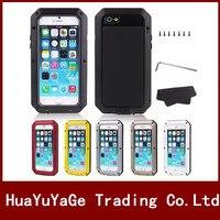 מקרי טלפון מתכת אלומיניום יוקרה כיסוי לכלוך עמיד הלם מקרה עמיד למים רב עוצמה 5S 5C iPhone 4 4S 5 SE 6 6 S בתוספת 7 7 בתוספת
