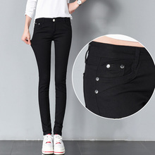 Weweya Jeans coupe slim Femme Denim pantalon moulant Jeans De Couleur de  Sucrerie Femelle Stretch Skinny Jeans Pantalons Pour Fe. ae941c7de58