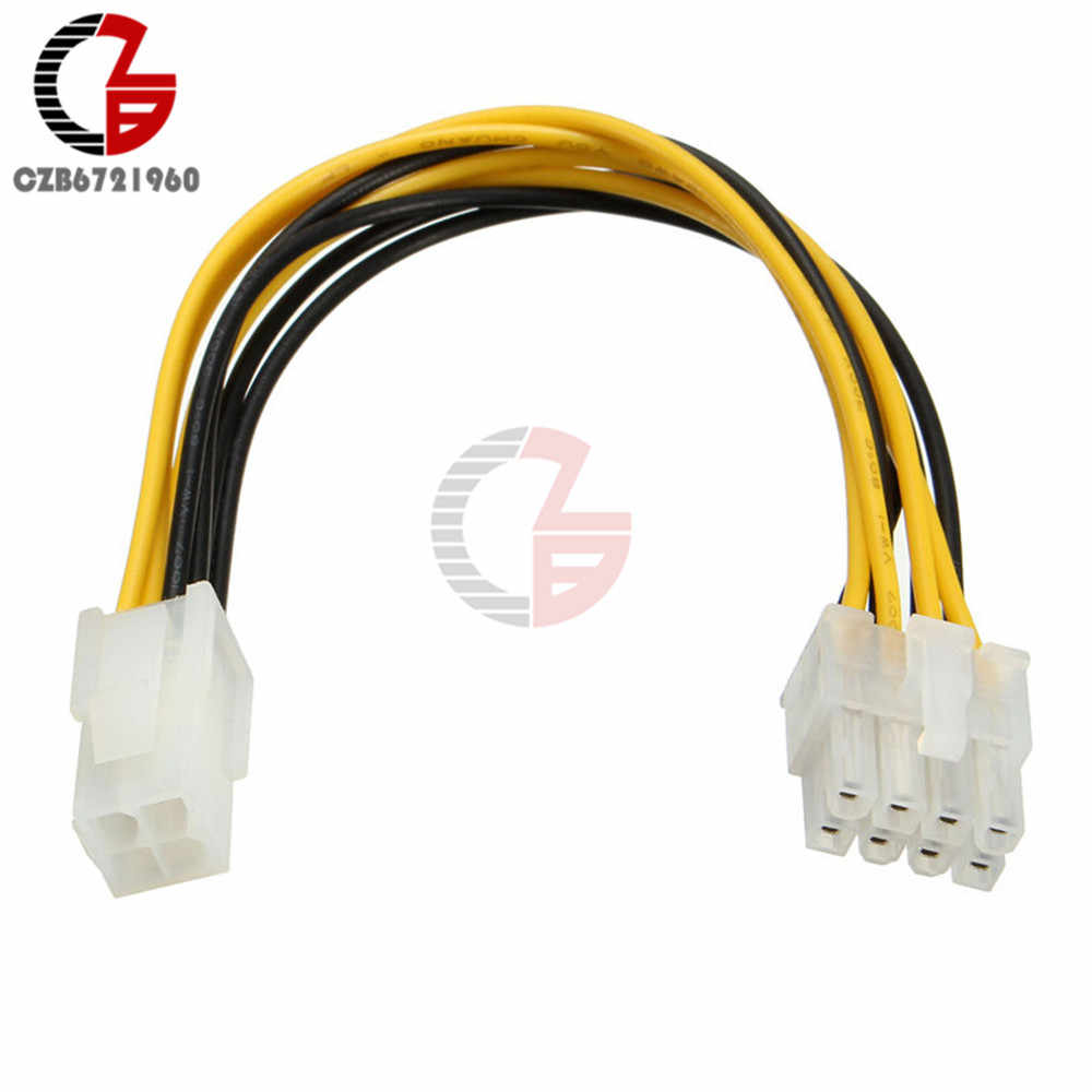 20cm 4 Pin Female to Male 8 Pin ATX EPS 12v Connector Adapter PCIe Joint Cable