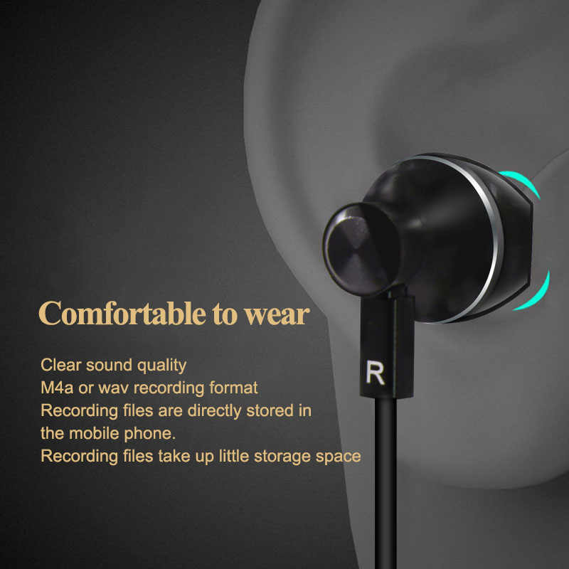 New Cellular Phone Call Recorder Mobile Earphone for iPhone Skype WeChat  Facebook WhatsApp Voice Call Recording with Free APP