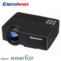 Excelvan E08 2500Lumen LCD Projector Home Cinema 1080P HD Support Multi screen by USB Cable For Smartphone PK X7 UC46