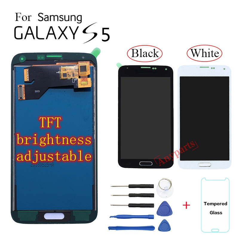 TFT For Samsung <font><b>S5</b></font> <font><b>G900</b></font> <font><b>SM</b></font>-G900F G900M <font><b>Display</b></font> LCD Screen replacement For Samsung <font><b>S5</b></font> G900A G900T G900W8 lcd <font><b>display</b></font> module image