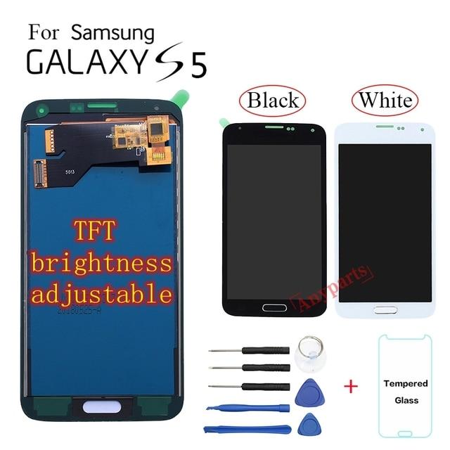 TFT LCD מסך עבור סמסונג גלקסי S5 G900F G900I G900M G900A G900T G900K G900L LCD תצוגת מסך מגע Digitizer עצרת