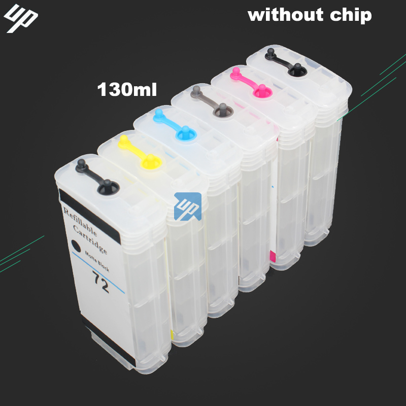 UP 130ml empty Refillable Ink Cartridge compatible For HP 72
