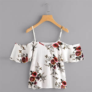 MIARHB Blouse female Shirt cropped summer tops for women
