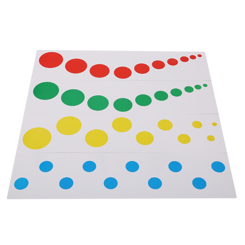 Colorful Montessori Math Toy Contrast Card Xmas Gifts Montessori Learning Educational Popular Toy