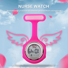 2017 Digital de Silicona reloj de la enfermera fob reloj de bolsillo médico reloj reloj de la enfermera Enfermera Médica Reloj de Cuarzo con Clip de broche de solapa ALQ