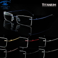 Man Women Memory Titanium Rimless Eyeglass Frames for Men Flexible Spectacles Glasses Eyewear Rx Clear Lens oculos de grau