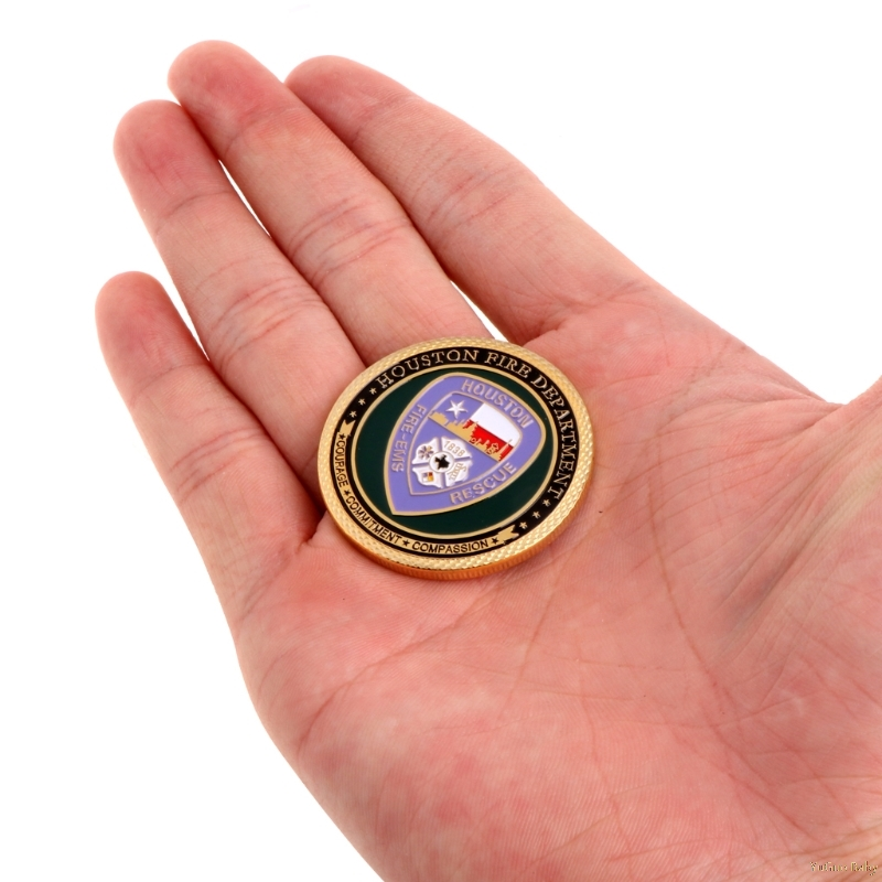 2018 Meaningful Saint Florian Fire Rescue Department Commemorative Challenge Coin Collection Art Noncurrent Coin