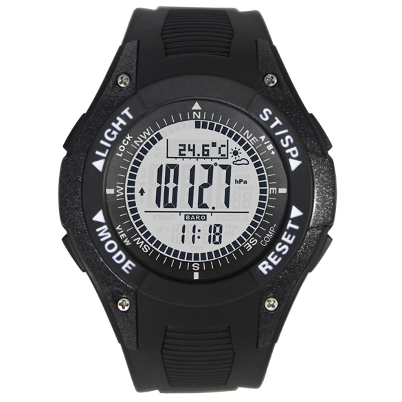 2018 New Brand Men Watches with Altimeter Barometer Compass Fashion Sports LED Watch reloj altimetro