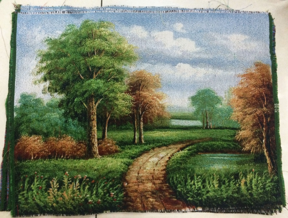 Free shipping  craft tapestry,scenery style fabric decor picture,wall hinging 30x40cm
