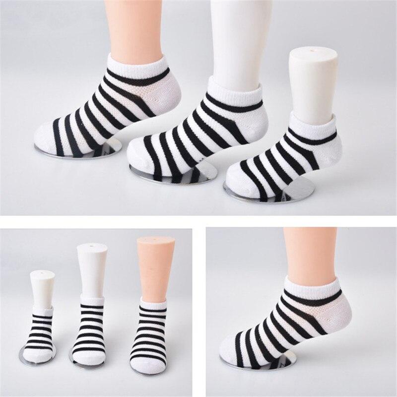 5 Pair=10PCS/lot Baby Socks Neonatal Spring Summer Mesh Cotton Plain Stripes Kids Girls Boys Children Socks For 4-12 Year 2