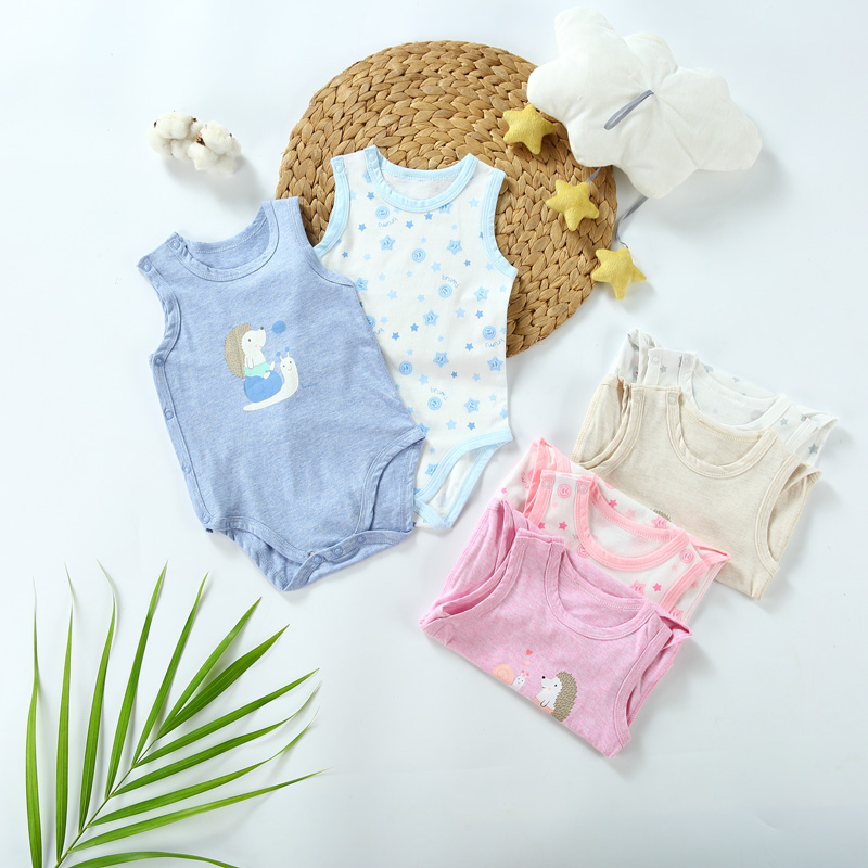 Baby Clothes Vestidos Baby Newborn Jumpsuit Baby Overalls Pyjamas Kids Clothes Summer Sleeveless Bodysuit Side Opening Snap
