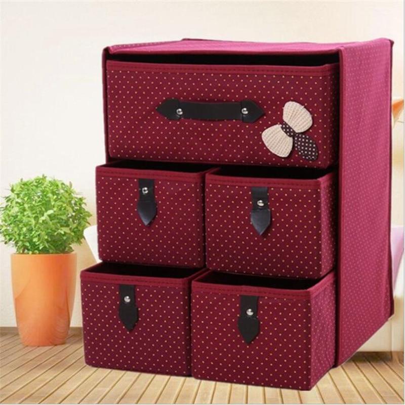 3 Layers Drawer Underwear Bra Storage Box Storage Box Clothing Storage Box Handker Chief Closet Drawer Cloth Heart Socks Bra