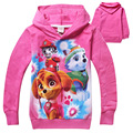 2016 Baby girls Hello Kitty coat Hooded fur Sweater Winter Warm Jacket Children outerwear kids clothes wholesale 4pcs/lot