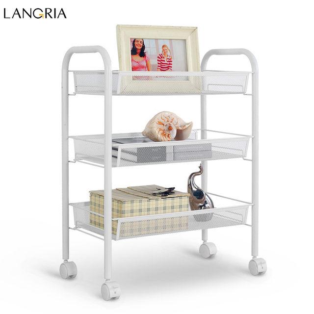 Online-Shop Langria 3-Tier Lagerregal Metallgitter Rollwagen ...