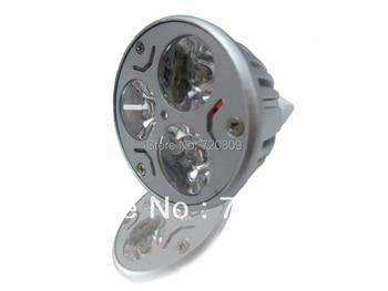 Free shipping 50pcs/lot 3x1w 3w MR16 LED Spotlight Bulb Spot Lamp DC12v Pure/Warm White