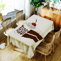 Cake Tablecloth Waterproof Decorative Washable Decorative Table Cover Rectangular Tapete Home Table Cloths Oilproof