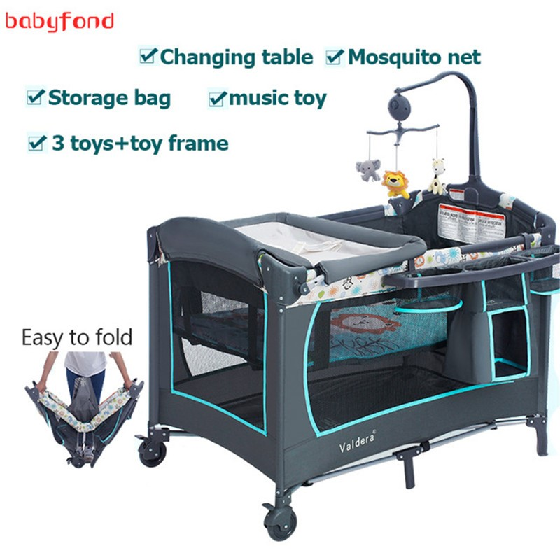 Valdera Multifunctional Crib Foldable Baby Bed Portable Game Newborn Bed Bb Bed With Mosquito Net