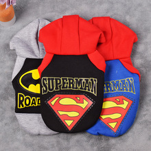 Pet Cat Dog Coat Superhero Costume Superman Puppy Pet Hoodie Coat Small Dog Clothes Dog Winter Clothes Pet Supplies